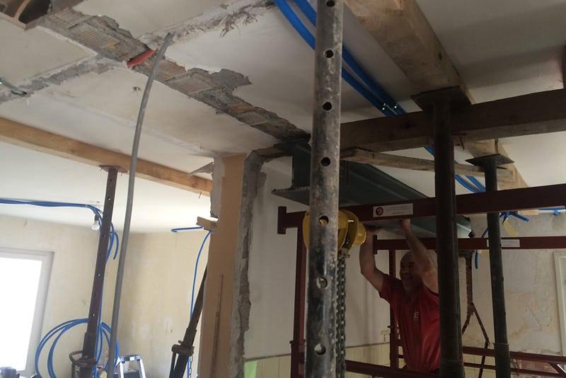 Bollini - Rénovation - Démolition de cloison porteuse intérieure